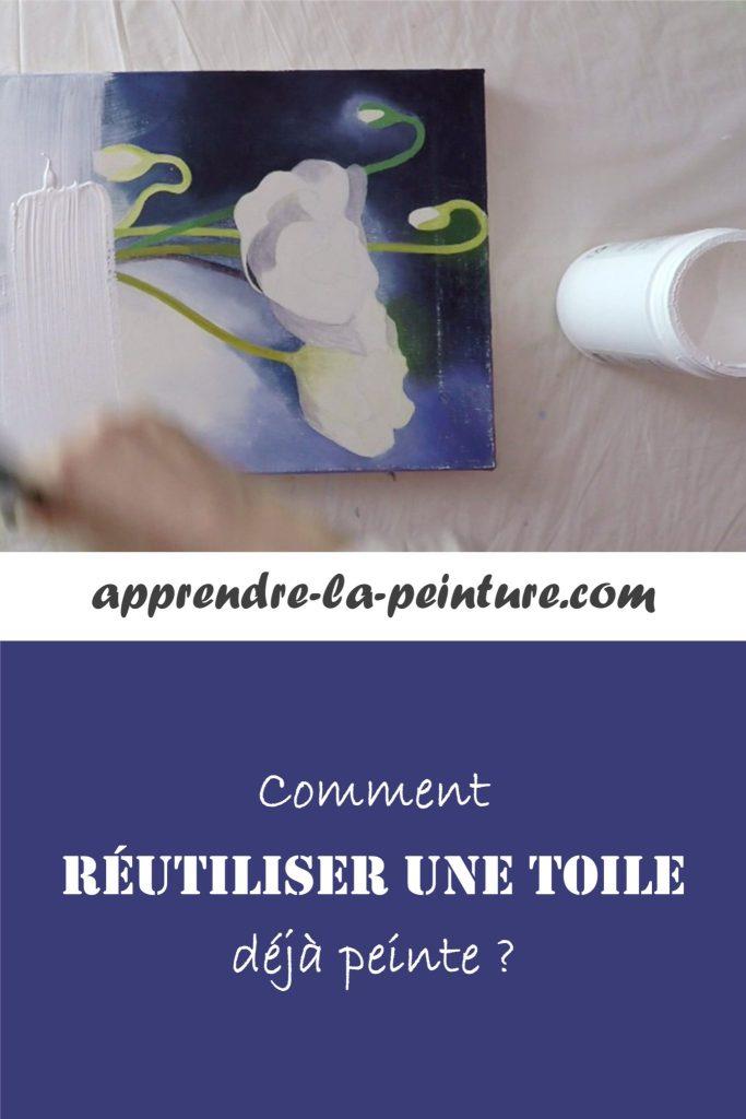 Comment réutiliser une toile déjà peinte ?