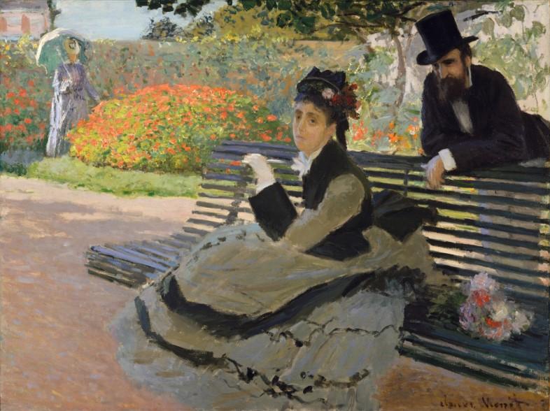 Camille Monet sur un banc - Claude Monet