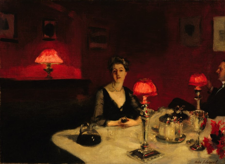 Le Verre De Porto, Une Table De Nuit, 1884 - John Singer Sargent