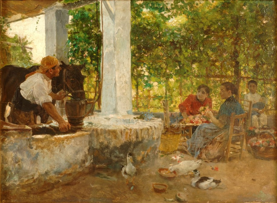 Des fleuristes – Joaquim Sorolla – 1891