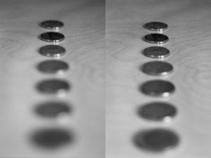 Ma petite fortune, à gauche à f/1.8, à droite à f/4