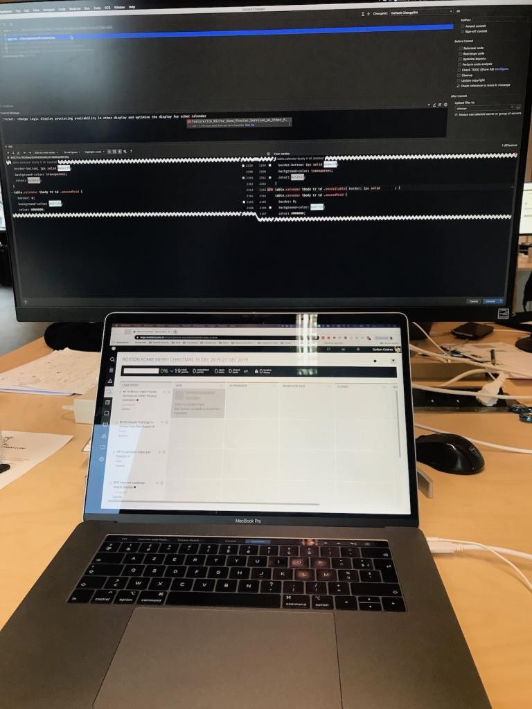Macbook pro et moniteur 4K LG