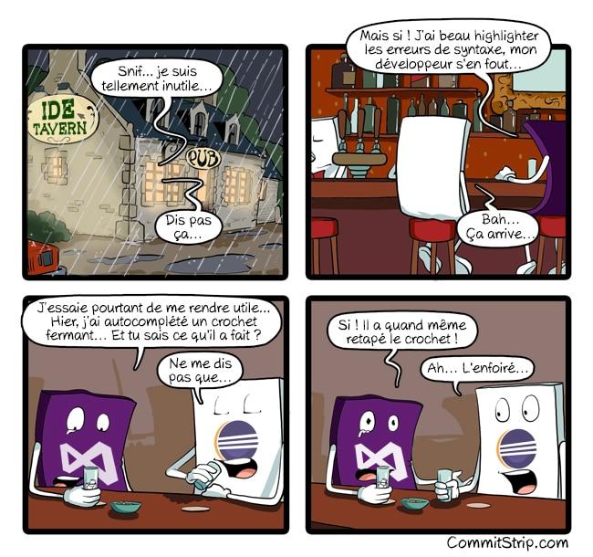 Commitstrip Visual Studio Code