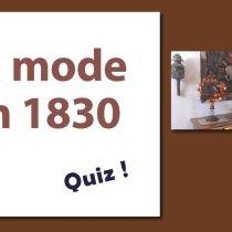 Quelle est la mode 1830 ?