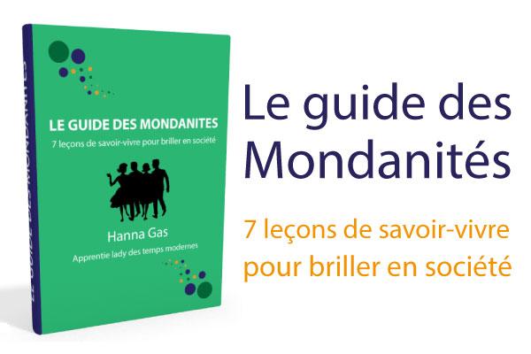 guide des mondanité savoir vivre étiquette coach en bonnes manières protocole guide mondanités