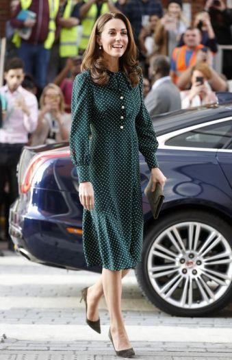 robe à pois kate duchesse