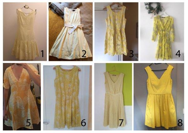Une robe jaune parfaite