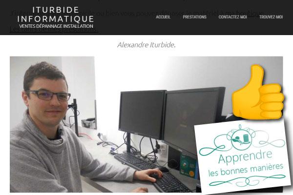 alexandre iturbide informatique basque informaticien site blog professionnel