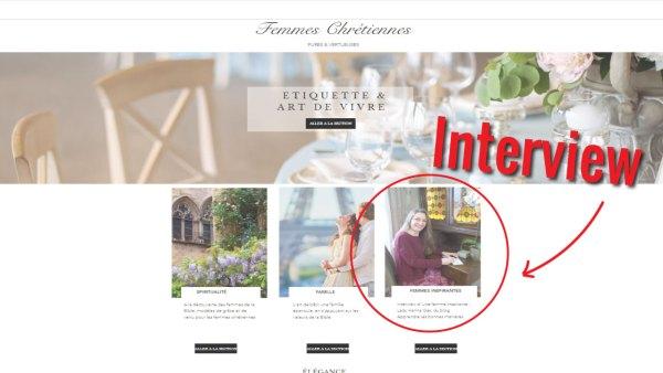 interview Femmes Chrétiennes Hanna Gas