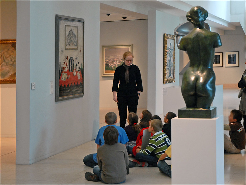 Visite scolaire au musée des beaux-arts de Nancy