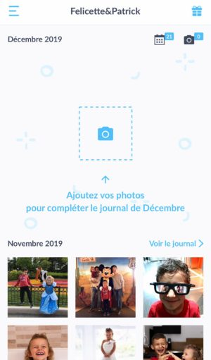 Accueil application mobile Neveo