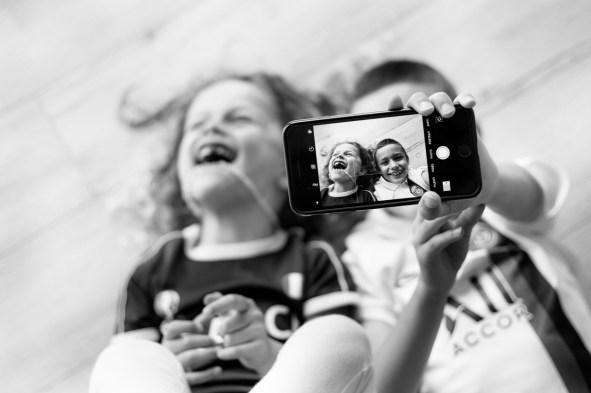 Photo d'enfant et famille