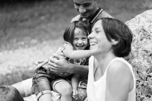Photo de famille en mode Priorité Ouverture