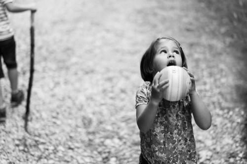 Photo d'enfant en mode Priorité Ouverture
