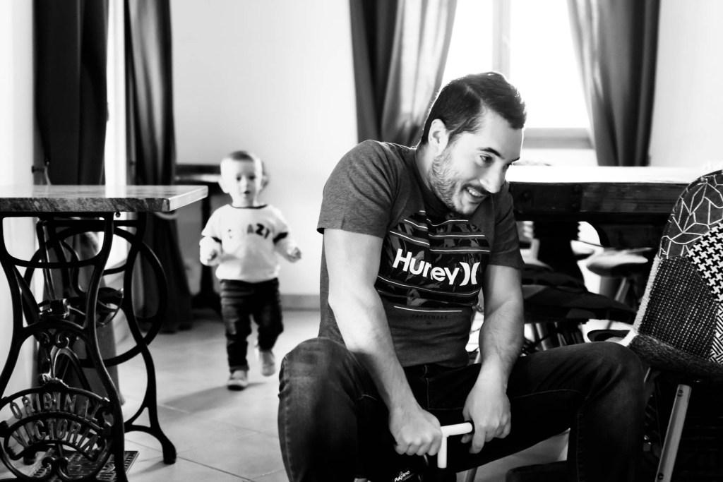 capturer la complicité entre un papa et ses enfants