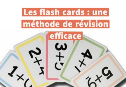 méthode de révision flash cards