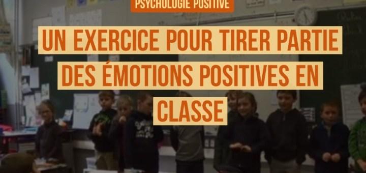 la psychologie positive en classe