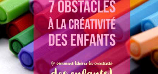 obstacles créativité enfants