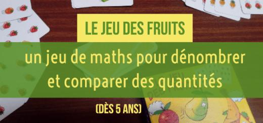 jeu des fruits compter maths