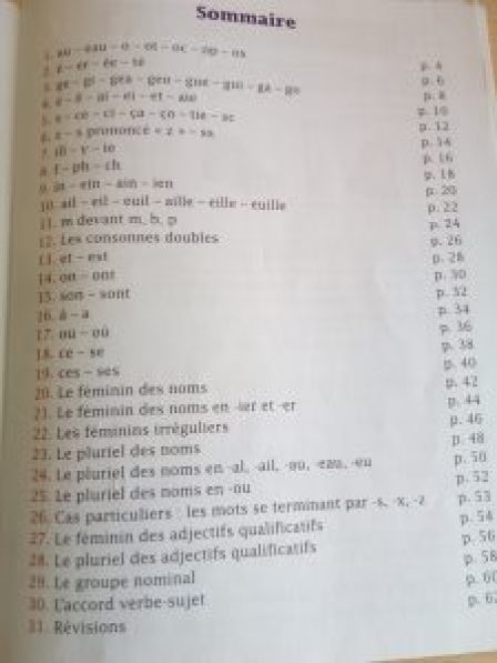 programme orthographe ce1