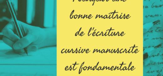 écriture cursive manuscrite à quoi ça sert
