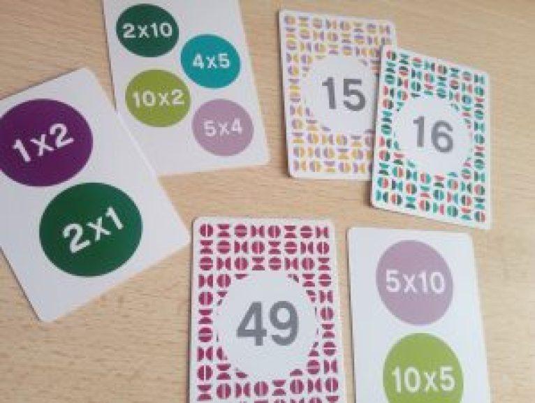 jeu cartes multiplication