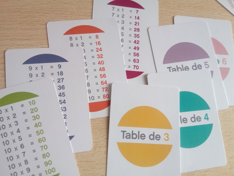 jeu mémoriser tables de multiplication