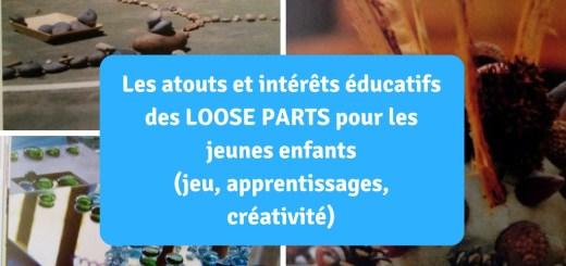 Les atouts et intérêts éducatifs des loose parts pour les jeunes enfants (jeu, apprentissages, créativité)