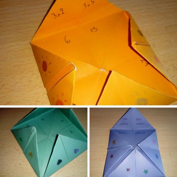 cocottes papier apprendre enfant