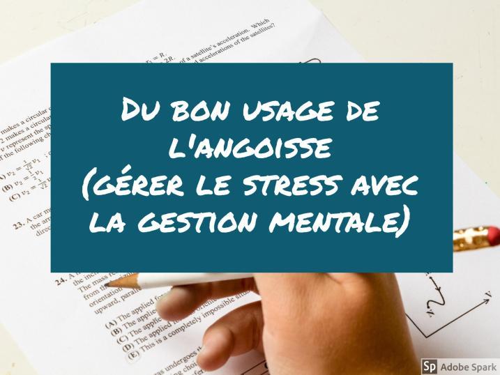 gérer stress gestion mentale