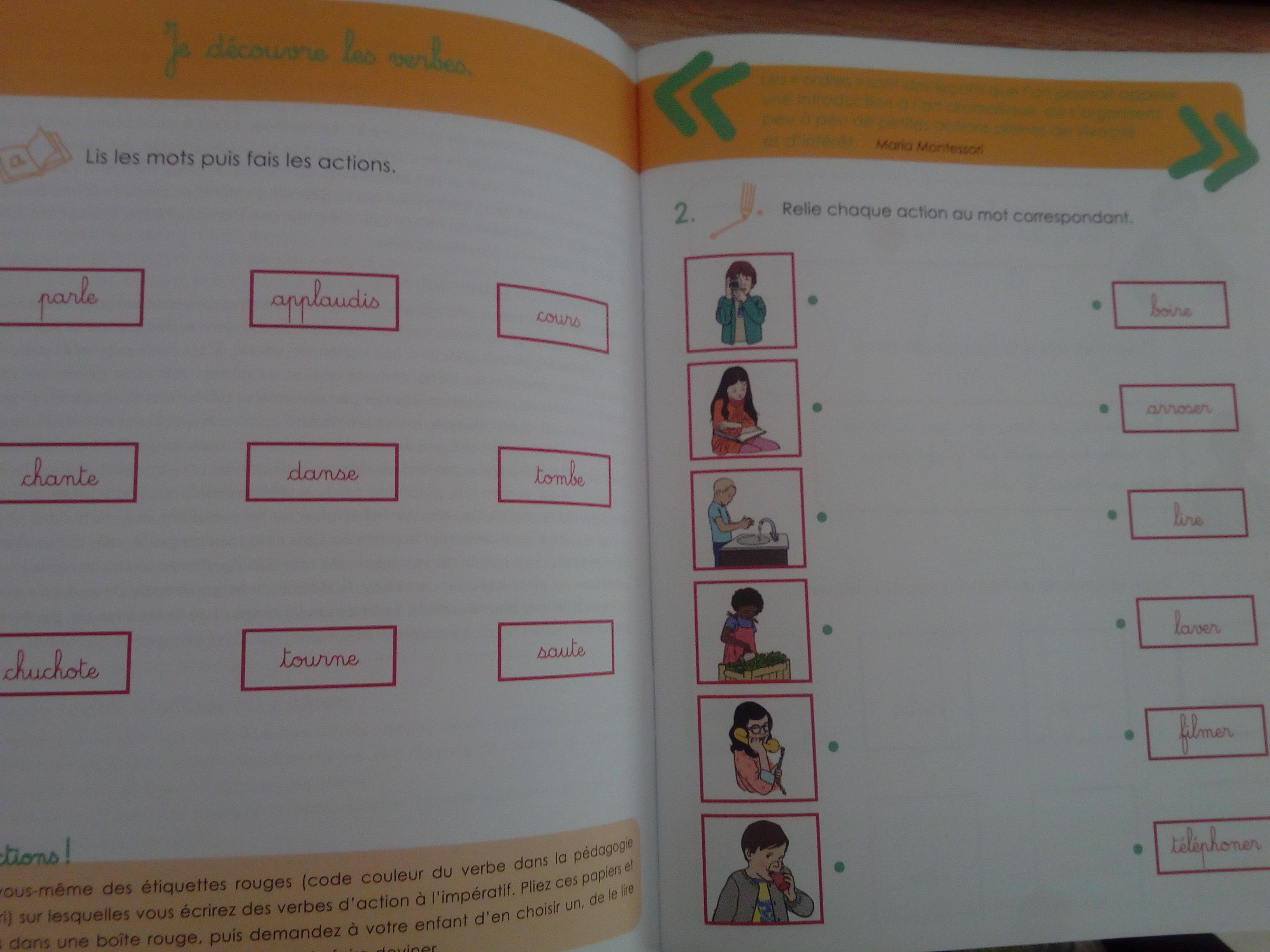 cahier montessori je découvre la grammaire