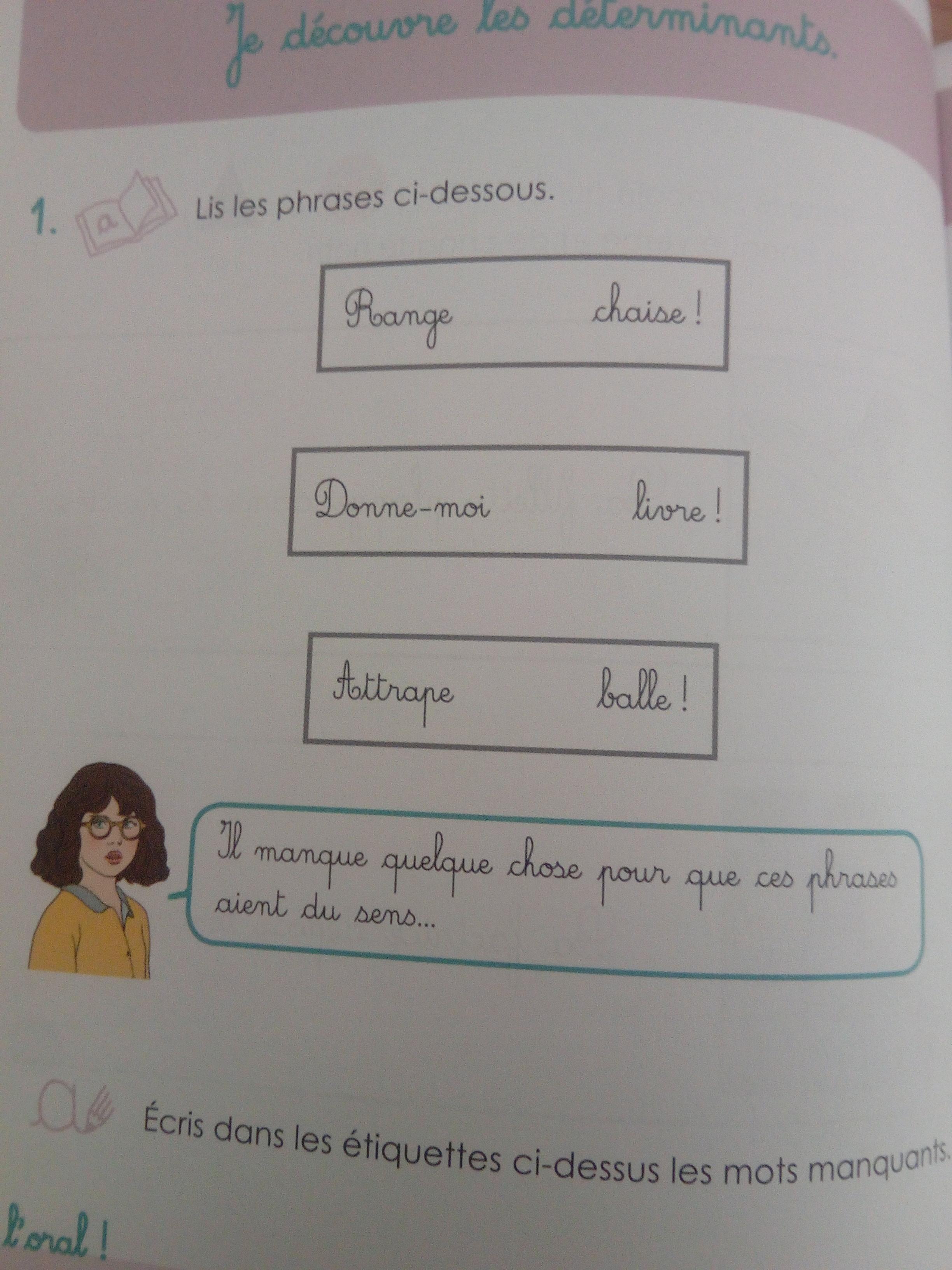 cahier apprendre grammaire montessori