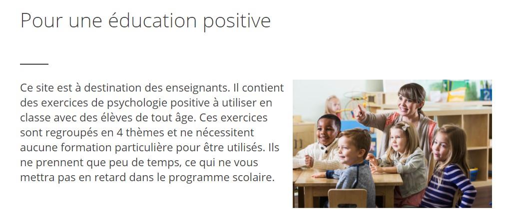 pour une éducation positive école