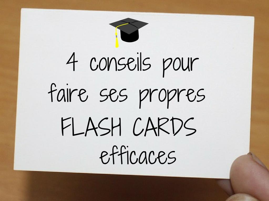 4 conseils pour faire ses propres flash cards efficaces