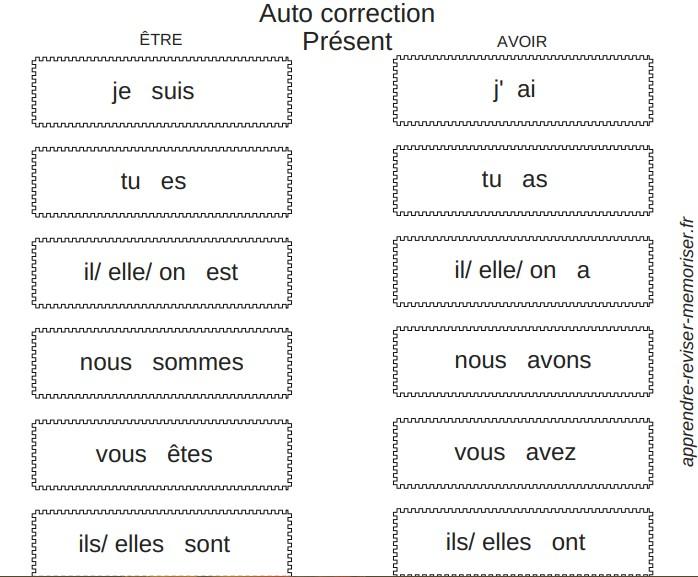 Un Memory De Conjugaison Des Auxiliaires Present Futur Imparfait Passe Simple Passe Compose