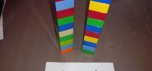 multiplication avec des briques de construction type Lego