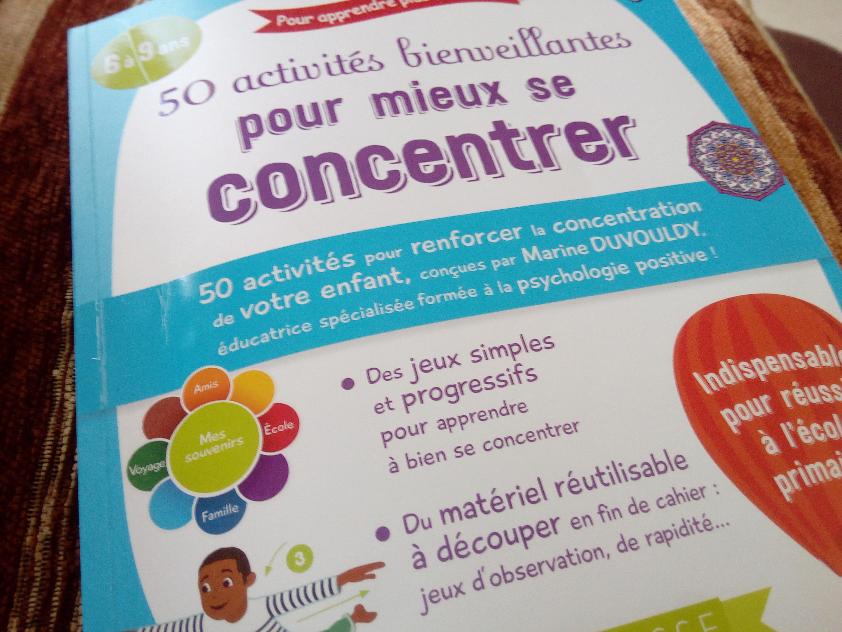activités concentration bienveillantes