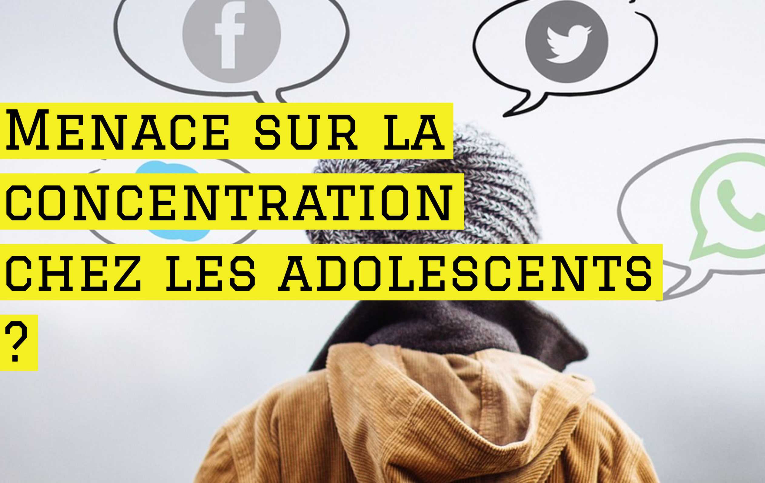 Menace sur la concentration chez les adolescents