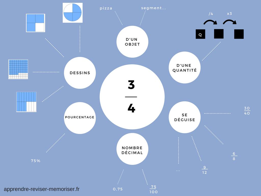 Une carte mentale des fractions