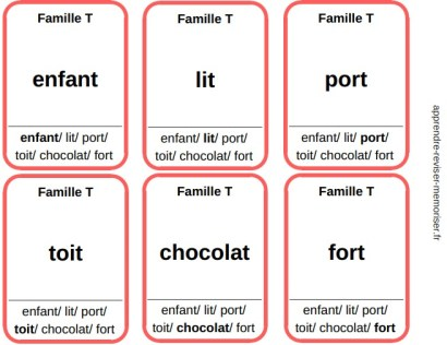 jeu 7 familles lettres muettes