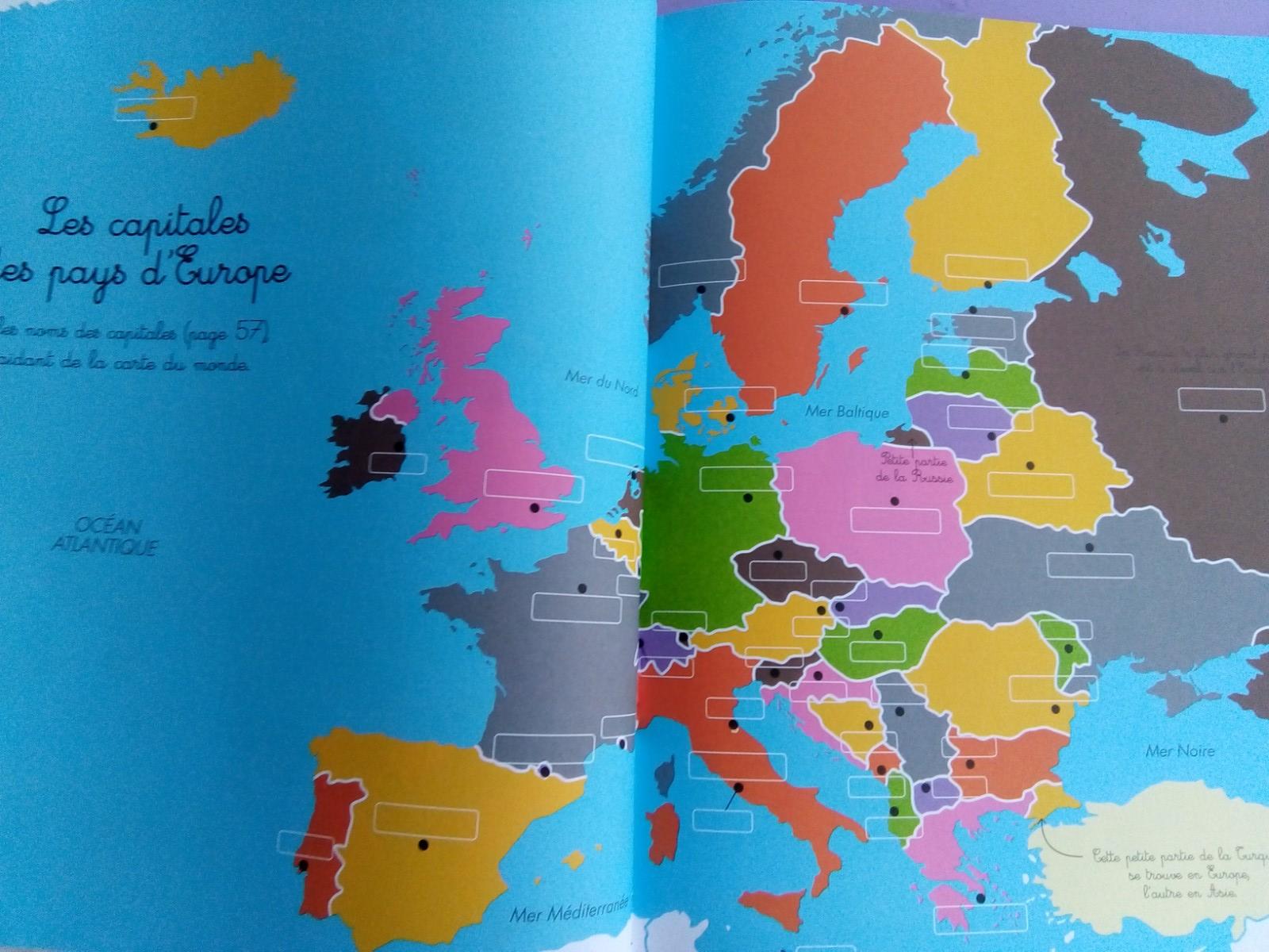 cahier géographie montessori enfants