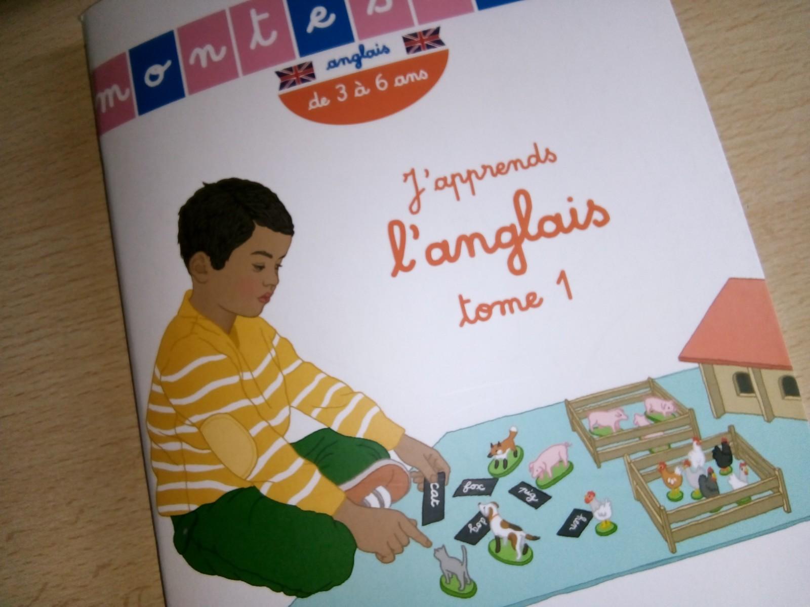 cahier montessori anglais enfants