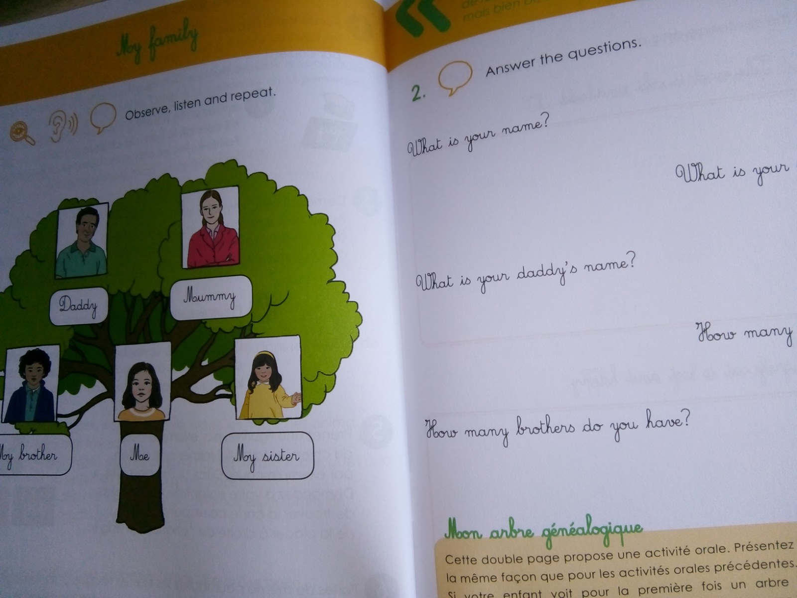 cahier petits montessori anglais 6 ans
