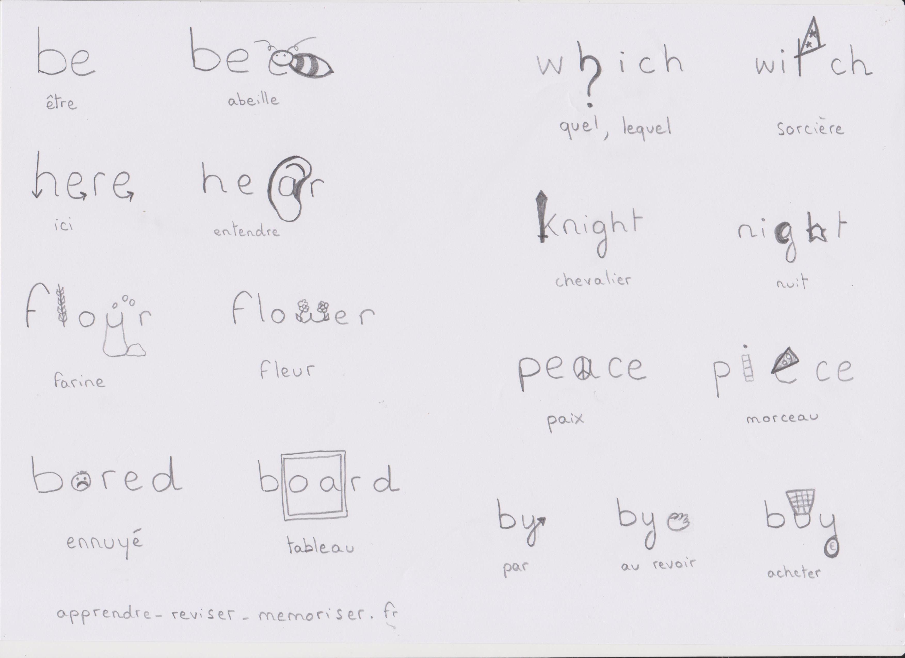 orthographe illustrée anglais