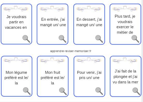 cartes vocabulaire