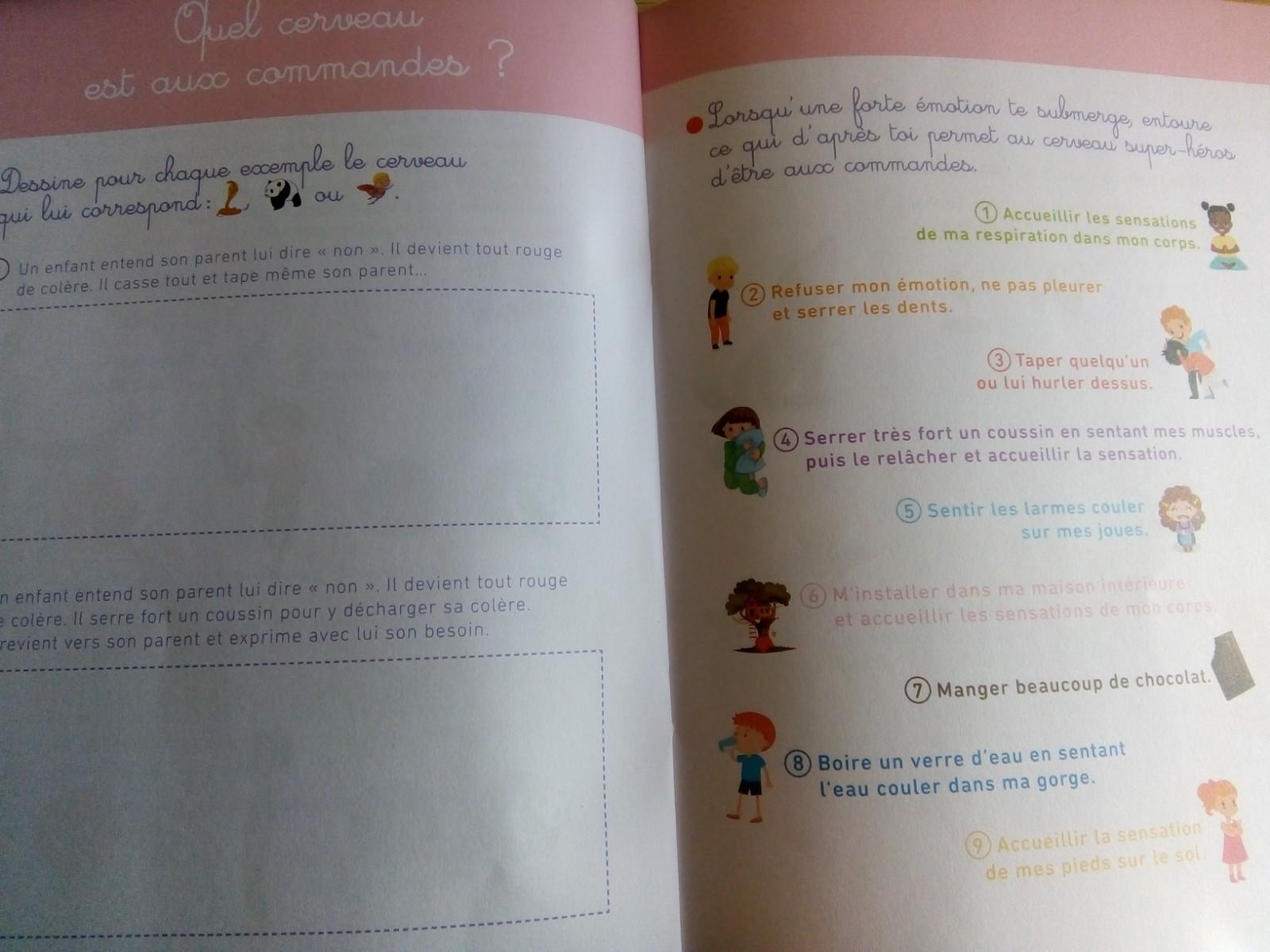 cahier gestion des émotions enfants