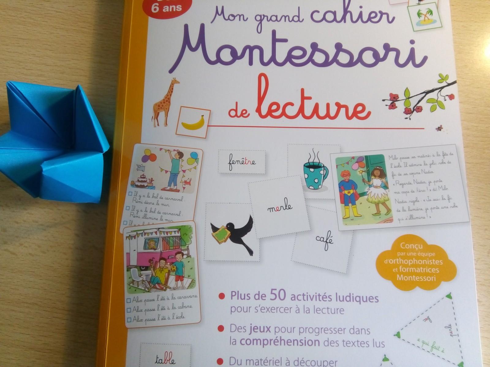 cahier montessori de lecture enfants