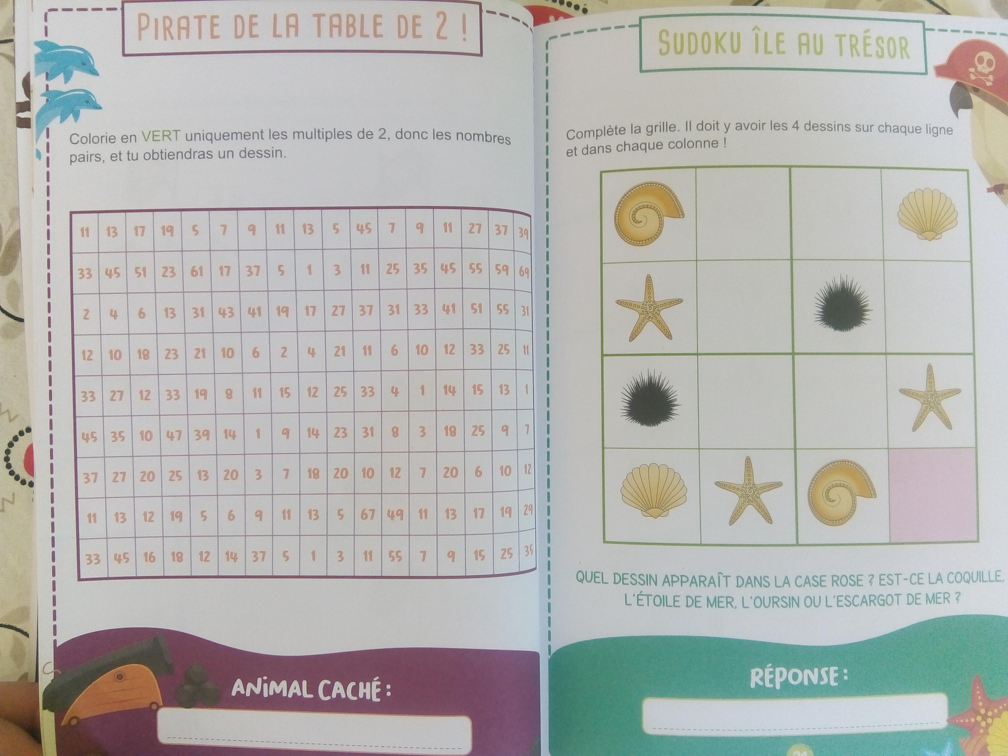 cahier jeux de mathématiques cp