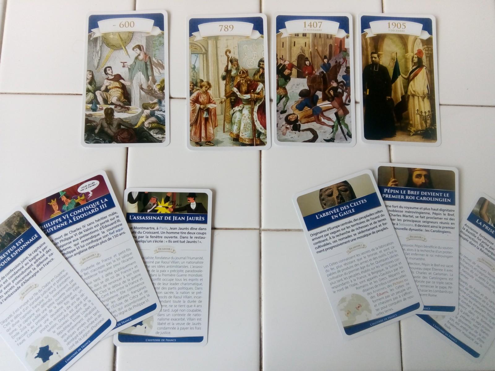 chroni jeu de cartes histoire de france