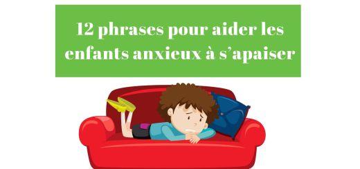 apaiser enfants anxieux